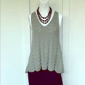 EUC- SHE AND SKY GREEN KNIT TANK TOP SIZE SMALL